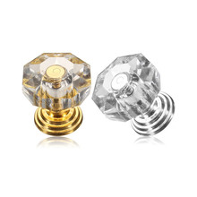 MTGATHER18mm Crystal Clear Crystal Glass Door Pull Drawer Cabinet Furniture Handle Knob Screw Hot Worldwide Best Price