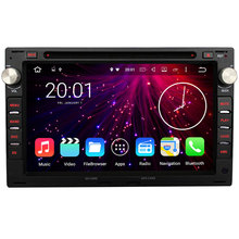 2G RAM 2din Android 7.1.2 1024*600 screen 2 DIN Car DVD Radio GPS for VW Jetta Polo Bora Golf 4 Passat B5(China)