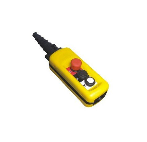2 Speed Control Hoist Crane 2 Pushbuttons Pendant Control Station With Emergency Stop<br>