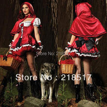 Free Shipping New arrive costumes for the new year,sexy witch cosplay,women halloween Party costumes Princess red dress