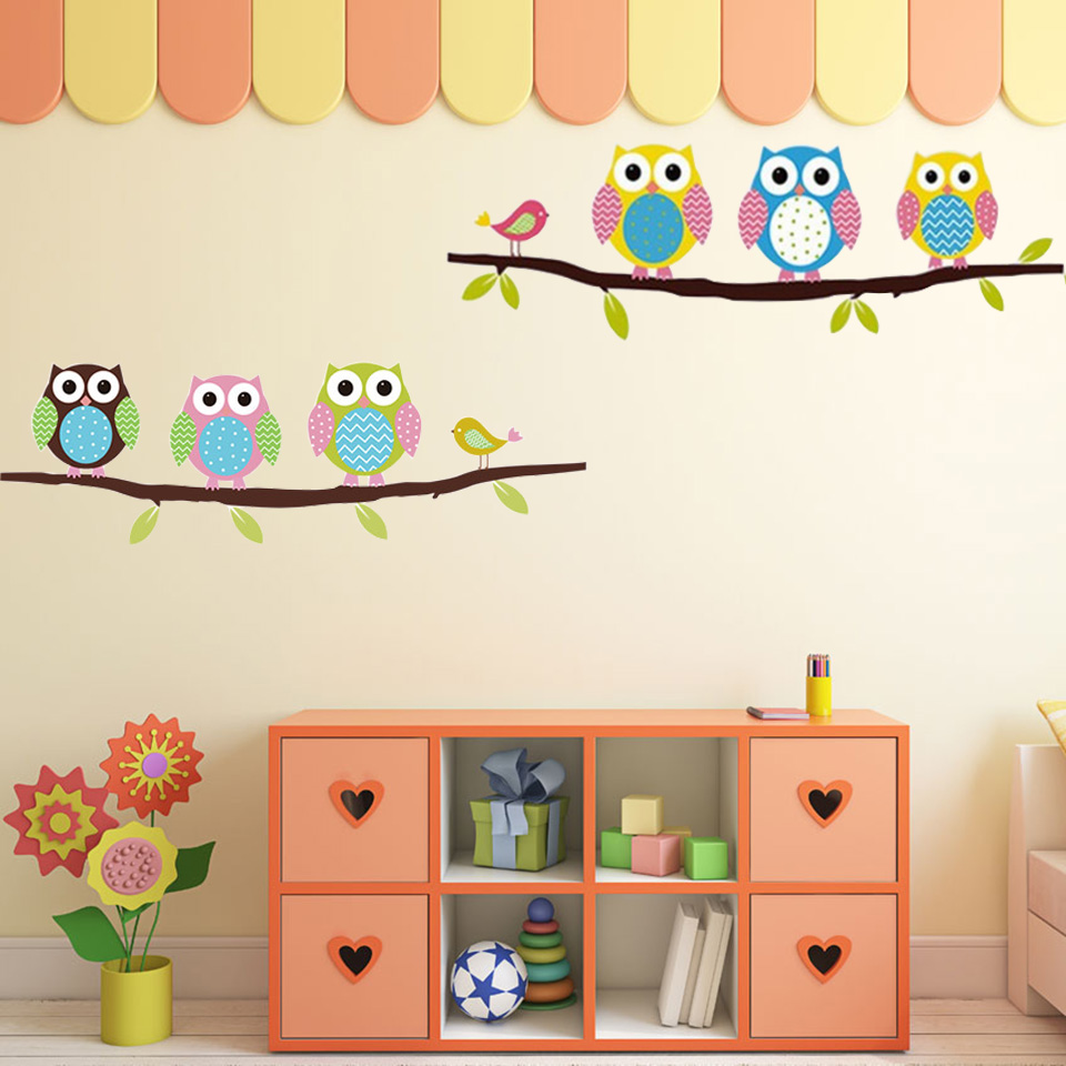 Owl Wall Stickers For Kids Rooms A16 (3)