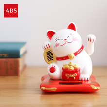 Home Furnishing decorations gifts series solar Lucky Cat felicitous wish of making money the living room decoration(China)