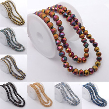 100pcs/Lot 6mm Fantastic Scrub Beads glass Bead section Round Loose Bead For DIY Jewelry Making U PICK Colors(China)