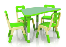 New!!! Only Table Height Adjustable Single Trapezoid Table for Kids Super Quality Kindergarten Children Tables CH-2608(China)