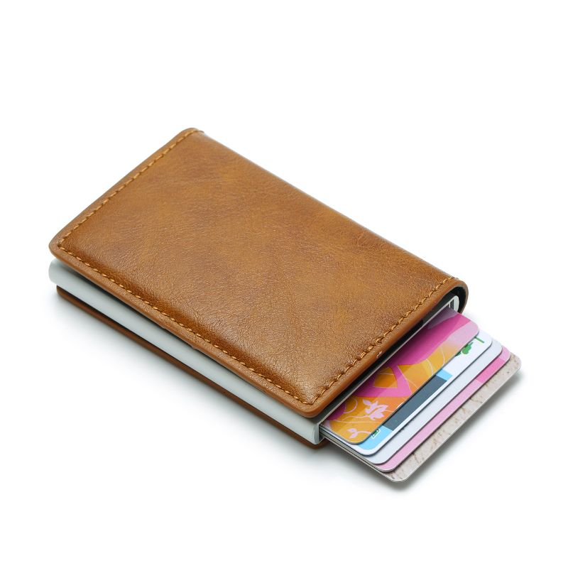 Genuine Crazy Horse Leather Wallet RFID Blocking Purse Cash Credit Card Holder