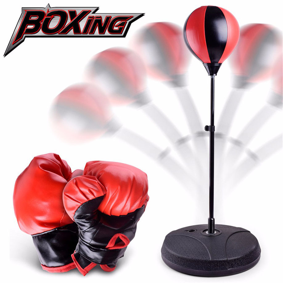 DIY Children Training Fitness Boxing Sand Bag  Punching Bag Toy Gift 1 set Sandbag Excercise Gym Tool Drop Shipping<br>
