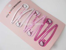HJNVNG 48MM Hello Kitty Hairclips 6 cards/lot cute girl's hair accessories Jewelry Findings