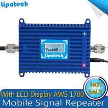 Newest LCD display UMTS 1700 4G Mobile Cell phone GSM AWS 3G 1700mhz Repeater Booster 70dB Gain signal amplifier For T-Mobile
