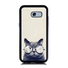for Galaxy A3 A5 A7 2016 Case Lovely Animal Cartoon Cat Painting Case for Samsung A5 A7 2017 Soft Rubber Hard PC Cellphone Cover