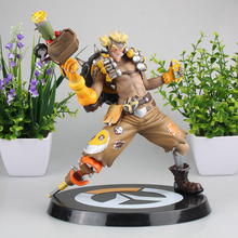 Love Thank You OW Over game watch Overwatches JunkRat JAMISON FAWKES 28cm PVC Anime figure toy Model gift new