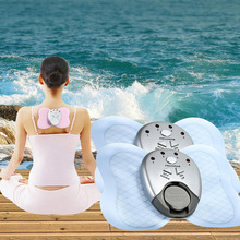 electric body butterfly massager pads therapy shock  ABS muscle trainer stimulator massage waist weight loss health Care