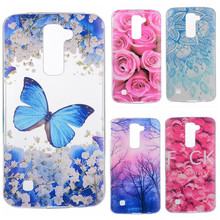 Phone Cases sFor LG K10 Flowers Rose Plants Butterfly Pattern Clear Soft TPU Back Cover for LG K 10 LTE K410 K420N K430DS K430