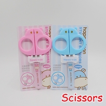 [Deli] Wholesale (12 Pieces/Lot) Kawaii School Stationery Safe Kids Scissors For Craft Paper Card Album Scrapbook No.6032