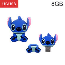 Cheap cartoon Lilo & Stitch PVC Usb flash drive Pen drive Usb memory stick thumb Pendrive Usb disk 1GB 2GB 4GB 8GB 16GB 32GB(China)