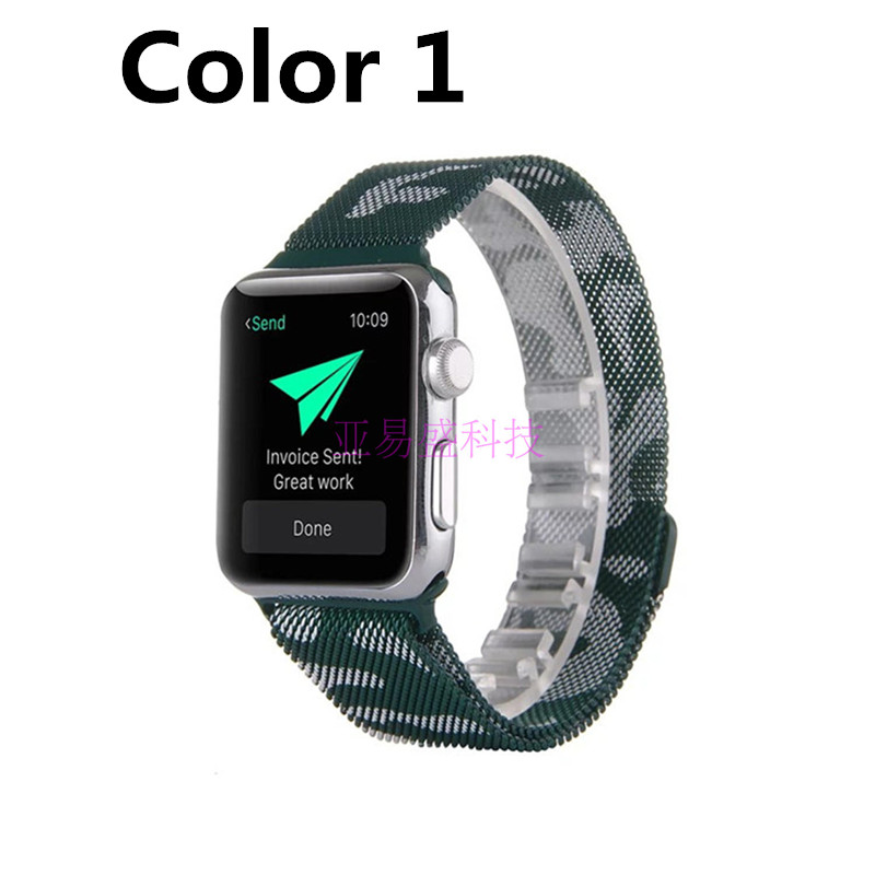 Top Quality New Camo Magnet Lock Stainless Steel 42mm 38mm Apple Watchbands For Apple Watch iWatch 4 Color Available<br><br>Aliexpress