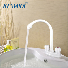 KEMAIDI Free Shipping Bathroom Sink Faucet ABS Plastic Basin Mixer Tap Chrome Finish Water Taps Kitchen Basin Faucets(China)