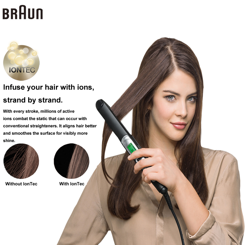 Braun Satin Hair 7 Iontec Straightener ST730 Styling Accessories Tools Curling Straightening Irons Professional 100-240v