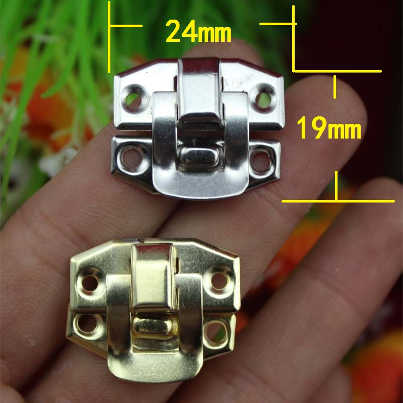 Antique Iron Jewelry Box Padlock Hasp Locked Wooden Wine Gift Box Handbag Buckle Hardware Accessories,24*19mm,6Pcs