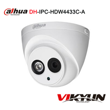 Dahua IPC-HDW4433C-A Built-in MIC H265 upgrade from IPC-HDW4431C-A HD 4MP IR 30m network IP Camera security cctv Dome Camera(China)