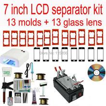 2015 New for iPhone 5S 7Inch Touch Glass LCD Screen Separator Repair Kit +UV lamp+Optical Clear Adhesive for iphone 6(China)