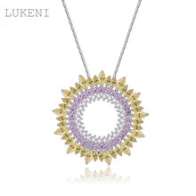 NEW Design Restoring Ancient Ways Micro Inlay AAA Zircon The Disc Type Pendant Necklaces Fashion Women Luxury Wedding JEWELRY
