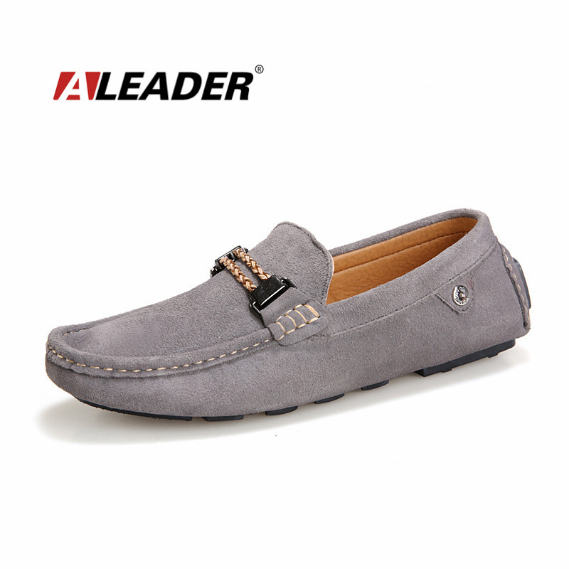 Casual Mens Loafers Shoes 2015 Summer Genuine Leather Driving Shoes Flats Suede Moccasins Shoes for Men Slip Ons Dress Shoes<br>