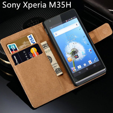 C 5303 for Sony Xperia SP Case M35H Hot Luxury Leather Flip With Stand Design Mobile Phone Back Cover C530x Black C5303 Cases(China)