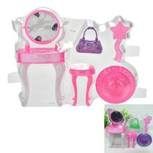 1 Set New Blister Toy for Barbie Plastic Dressing Table Bag Cap for Barbies Doll Dolls Accessories Children Play House Toys(China)