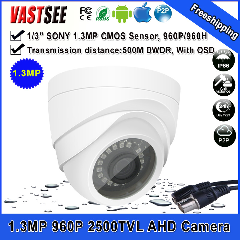 CCTV Security 1.3MP AHD Camera SONY sensor 2500TVL with IR-CUT indoor Night Vision video camera surveillance<br><br>Aliexpress