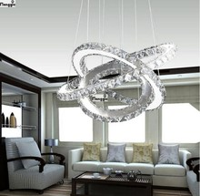 Hot sale Diamond 3 ring LED Crystal Chandelier Light Modern Pendant Lamp Circles 100% Guarantee different size position