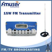 Free shipping FMUSER FU-15A FM transmitter radio broadcast transmitter with CA200 Car Sucker FM Antenna Kit(China)