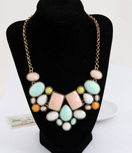 Min.order $10(Mix Item) SPX4526 New Promotion Fashion Big Chunky Statement Geometry Necklaces Body Short Jewelry(China)