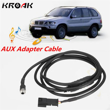 AUX Auxiliary Audio Input Adapter Cable Wire Harness CD Player For iPhone MP3 For BMW E39 E46 E53 w/ Navi
