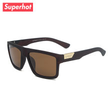 Superhot Eyewear - Men's Polarized Sunglasses Fashion Summer Sun glasses Male Casual Shades Brown Frame UV400 SP7983(China)