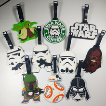 Classic Lovely Cartoon film Star Wars Stormtrooper & Black Knight Suitcase PVC luggage tags Travel Name Tag(China)