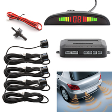 Buy Car Auto Parktronic LED Parking Sensor 4 Sensors Reverse Backup Car Parking Radar Monitor Detector System Backlight Display for $13.99 in AliExpress store