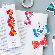 30 pcs/lot Cute Kawaii Paper Bookmarks Book Marks Creative Bow-knot Marque Page Korean Stationery Free Shipping 2495