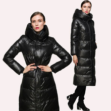 High Quality New Fashion 2017 Winter Women Duck Down Parkas Jacket Luxury Ultra Long Thick Warm Zipper Red / Black Down Coat