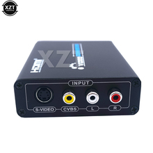 1PCS AV S-Video CVBS Converter Audio HDMI to S VIDEO+S S VIDEO Composite S VIDEO Switcher Adaptor Upscaler HD 3RCA for TV PC