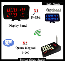 2 keyad and 1 display Coffee shop Restaurant Bar customer serivce calling queue paging system queue management system