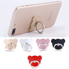 Phone Holder Stand For iPhone Samsung Bear Head Cellphone Finger Mobile Ring Stand Universal Holder Stand For your Mobile Phone(China)
