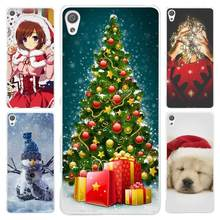 New Arrival Fashion Christmas New Year Gifts Christmas Tree Clear Cover Case for Sony Xperia Z1 Z2 Z3 Z4 Z5 M4 Aqua M5 XA XZ C4(China)
