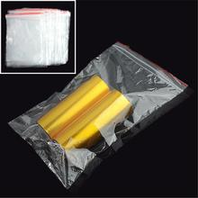 BIG PROMOTION 100PCS/LOT 13 X 19CM RECLOSABLE ZIP LOCK PLASTIC CLEAR STORAGE BAGS FOR SMALL ITEMS HIGH QUALITY(China)