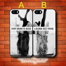 Sisters Forever Every Brunette Needs A Blonde BFF Case for iPhone X 8 7 6S 6 5S SE 5 5C 4S 4 Plus Cover for iPod Touch 6 5 Case