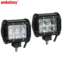 weketory 4D 5D 4 inch 30W LED Work Light Bar for Tractor Boat OffRoad 4WD 4x4 Truck SUV ATV