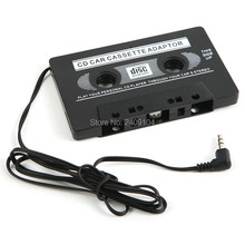 wholesale 200pcs/lot Car Cassette Tape Adapter FOR MP3 CD MD DVD For Clear Sound Music by free DHL FEDEX shipping