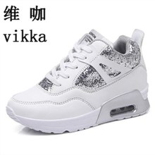 vikka new 2017 New female Sport platform shoes Women Casual Winter Outdoor lady air cushion Mujer zapatos superstar shoes 35--40(China)