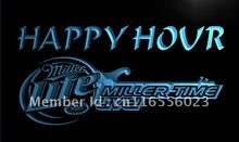 LA606- Miller Lite Guitar Happy Hour Bar Beer Neon Sign     home decor  crafts