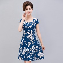 Buy L-5XL 2018 Women Summer Dress Silk Short sleeve sundress square collar Casual Plus Size floral print dresses Vestidos De Festa for $8.99 in AliExpress store