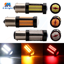 4pcs 12V 24V 4014 106 SMD Yellow Red White 1156 1157 Car Auto LED Bulb Turn Signal Lights Parking Light Very High Lumens 1900LM(China)
